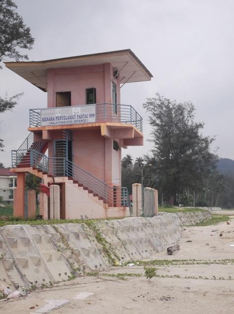 Lifeguard Tower at Air Papan Beach
