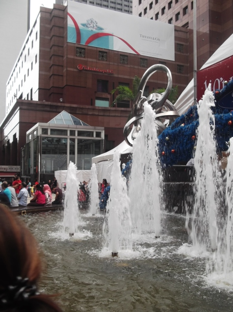 Fountain at Ngee Ann/Takashimaya