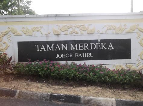 Taman Merdeka Signboard