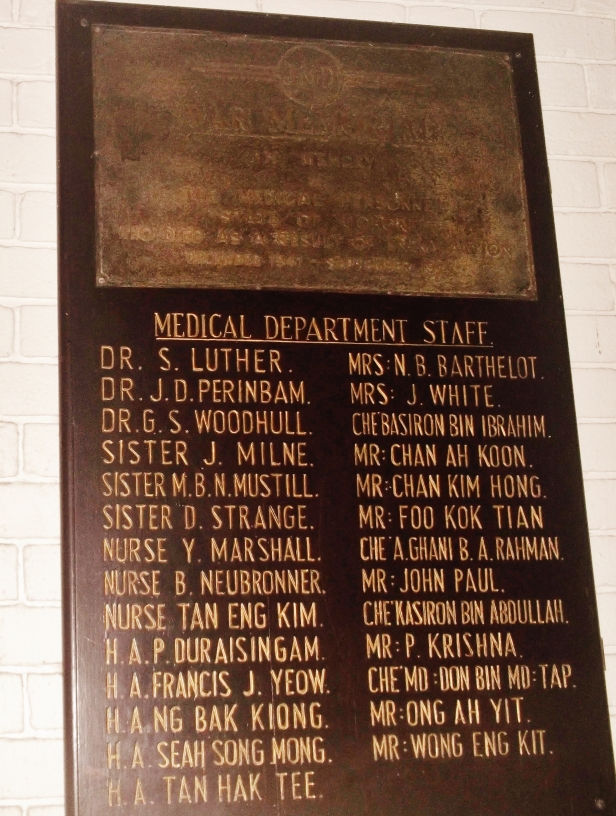 Plaque Medical Dept