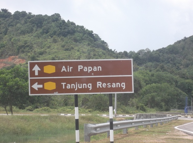 Air Papan / Tg Resang Signboard