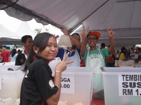 Young Crew at Stall