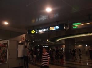 Bayfront station - MRT station to the Marina Bay Sands