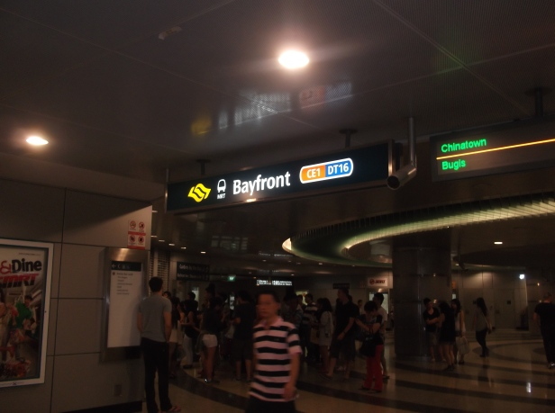 Scene at MRT Station leading to Marina Sands (Xmas 2013)