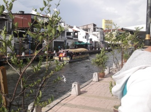 The rehabiliated waterways of Sungai Melaka (all rights reserved)