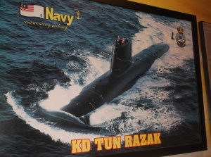 An exhibit of the KD Tun Razak, the latest addition to the Royal Malaysian Navy (all rights reserved)