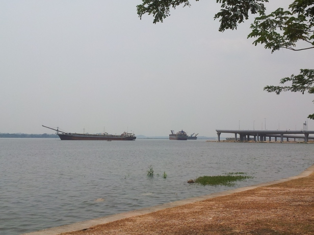 barge carrying sand