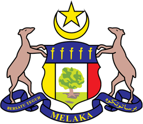 Coat of Arms of the State of Melaka (source : melaka.gov.my)