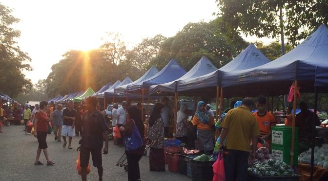 Pasar Tani, the farmer's market, of Johor Bahru