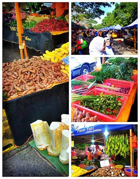 Home Grown Produce at Pasar Tani