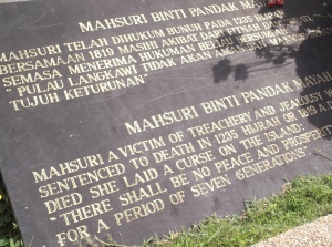The plaque placed at the grave of Mahsuri tells it all. (@all rights reserved)