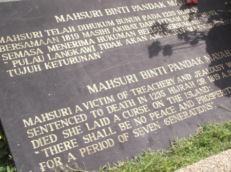 Mahsuri's Tomb - Plaque