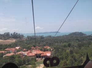 The view as the cable car goes up. (@all rights reserved)