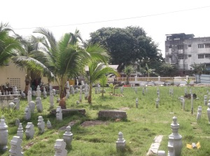 The cemetery within the grounds of Masjid Kampung Hulu. The graves are believed to be very old graves, based on the tombstones used. As per Muslim custom, the departed are buried facing Mecca. (@ all rights reserved)