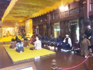 The Sultan of Melaka holding court. (@ all rights reserved)