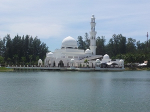 The Tengku Tengah Zaharah Mosque or otherwise known as the Floating Mosque at Kuala Ibai. (@ all rights reserved)