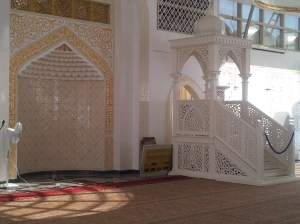 The pulpit of Masjid Kristal where the Imam delivers his sermon during Friday prayers. (@ all rights reserved)
