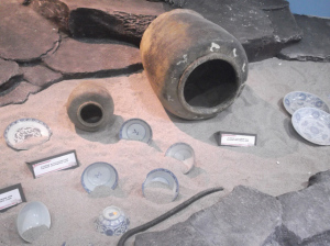 Artefacts from sunken Chinese junk