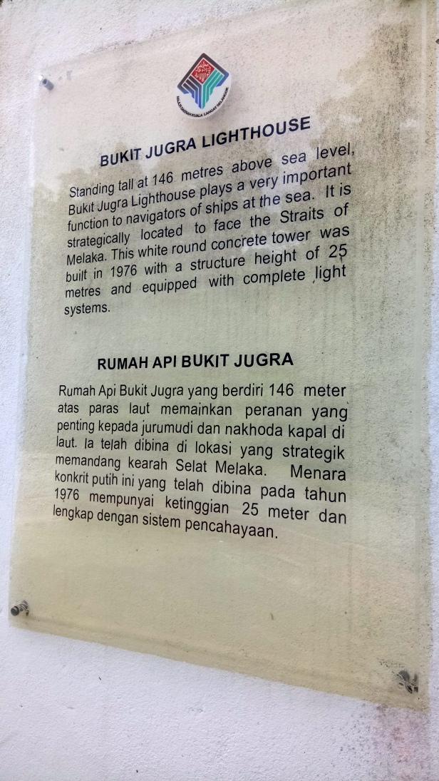 Plaque of Bukit Jugra