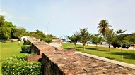 Fortifications of the fort, Fort Cornwallis. (photo credit : Shah Said ; @ all rights reserved)