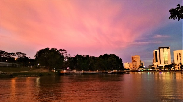 Dusk At The Kuching Waterfront (1)