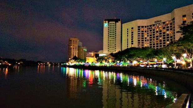 The Kuching Waterfront At Night